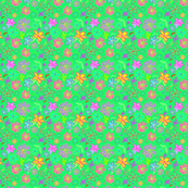 Flowers that Pop! - Blue-green hue