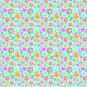 Flowers that Pop! Blue Dots background