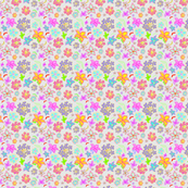 Flowers that pop! -Grey backing.