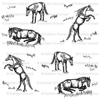 scribble horses double Db