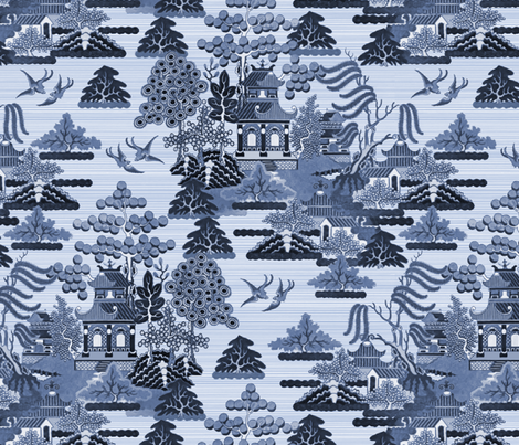 Antique Chinoiserie fabric by elramsay on Spoonflower - custom fabric