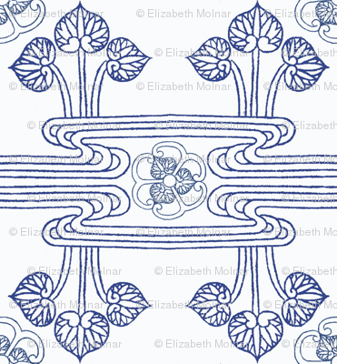 Chinese motifs Wave and Lotus**