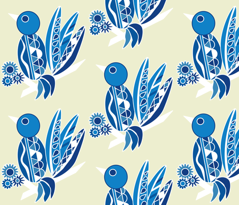 Tropical Chinoiserie fabric by dnbmama on Spoonflower - custom fabric