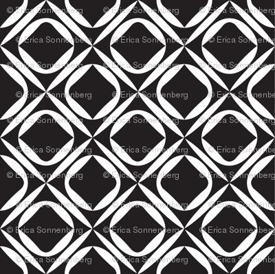 Mid Century Modern Black and White Wallpaper
