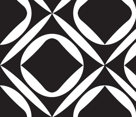 Mid Century Modern Black and White Wallpaper fabric by eraerica on Spoonflower - custom fabric