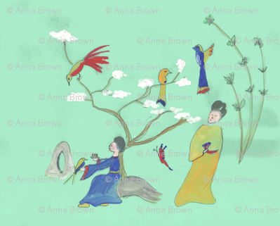 Chinoiserie Ladies and Birds