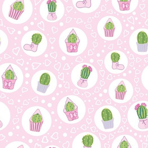 Pink Cacti Tea Party Pattern