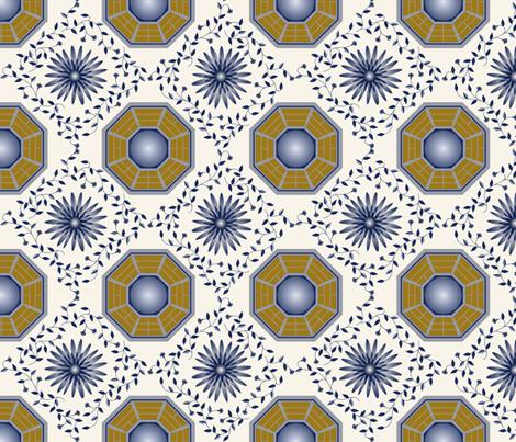 chinoiserie-bagua mirror fabric by freevam on Spoonflower - custom fabric