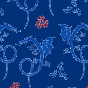 dragons - chinoiserie style