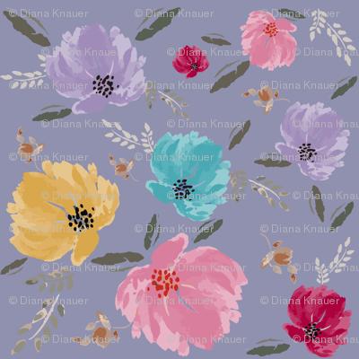 D*AVK Design - Pastel colorful flowers