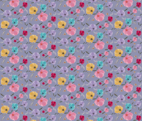 D*AVK Design - Pastel colorful flowers fabric by diana_knauer_d*avk on Spoonflower - custom fabric