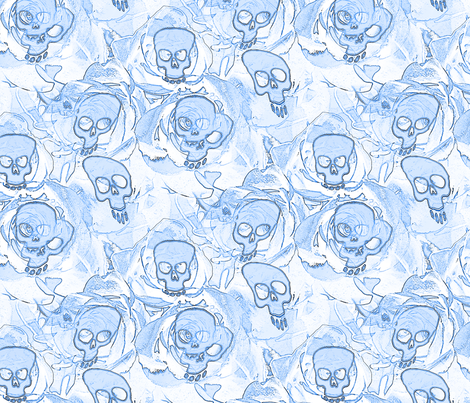 hauted skulls  fabric by farrellart on Spoonflower - custom fabric