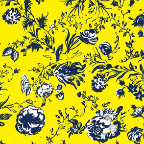 Yellow &  Blue Chinoiserie
