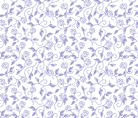 Simply Chinoiserie fabric by bastcatcreative on Spoonflower - custom fabric
