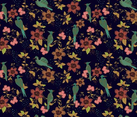 Autumn Chinoiserie  fabric by artypeaches on Spoonflower - custom fabric