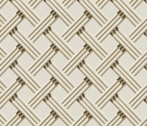 rattan trellis_24_natural_ivory_37MB. fabric by incognitoshop on Spoonflower - custom fabric