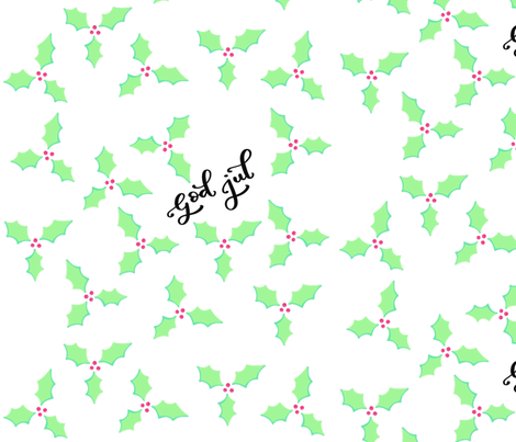 mistletoe fabric by up_letters on Spoonflower - custom fabric