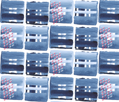 Abstract winter city fabric by mesh_and_cloth on Spoonflower - custom fabric