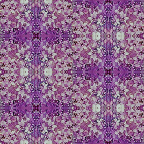 Purple and White Celtic Cross Floral Kaleidoscope