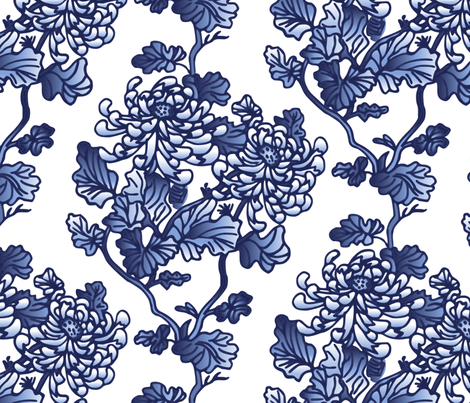 Chinoiserie fabric by olgart on Spoonflower - custom fabric