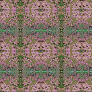 Celtic Cross Floral Kaleidoscope in Pink and Aqua