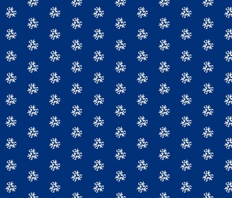 ornament - chinoiserie style white on blue fabric by michaelakobyakov on Spoonflower - custom fabric