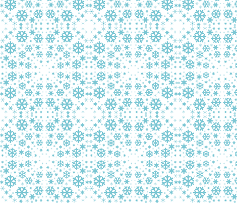 Snowflake Vortex fabric by cleamadethis on Spoonflower - custom fabric