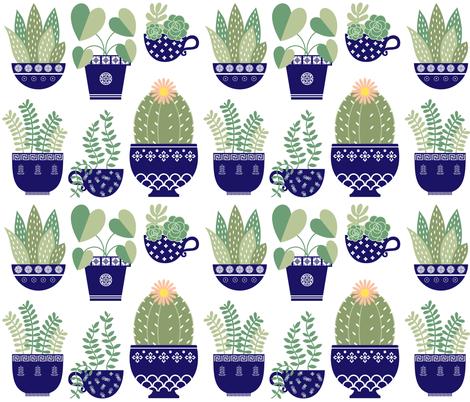 Peaceful Planters fabric by mayhem_flamingo on Spoonflower - custom fabric