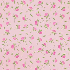 Clover Flowers-Pink