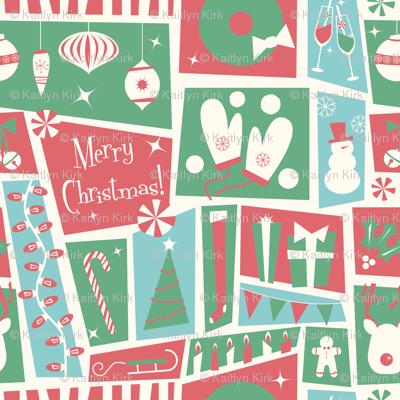 Merry Midcentury Seasonal Print