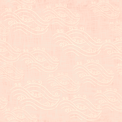 River on peach linen texture - chinoiserie style fabric by jjdesignwithlove on Spoonflower - custom fabric