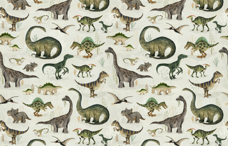 dinosaurs {large} fabric by katherine_quinn on Spoonflower - custom fabric