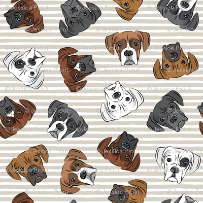 all the boxers - beige stripes