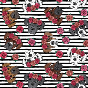 all the boxers with floral crowns - black stripes