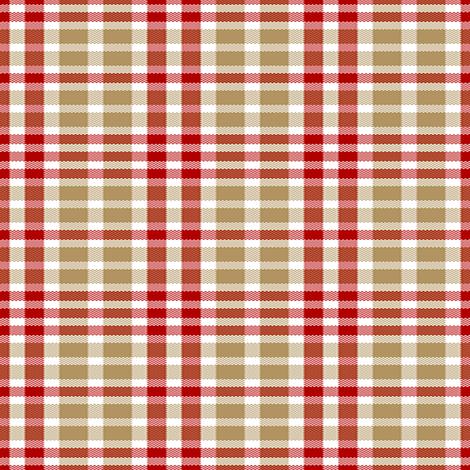 San Francisco 49ers Plaid Football Colors fabric by snow_bird_designs on Spoonflower - custom fabric