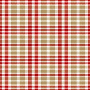 San Francisco 49ers Plaid Football Colors
