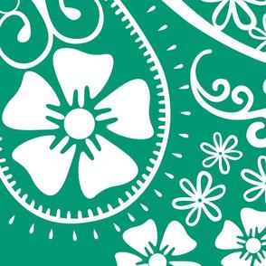 Paislley Emerald Jumbo