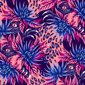 Hidden Creatures - Apricot / Navy
