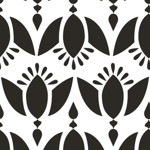 Blomst Black and White