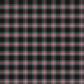 black plaid with diagonal detail 2x2