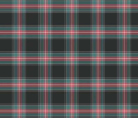 Dark gray plaid with diagonal detail 4x4 fabric by leroyj on Spoonflower - custom fabric
