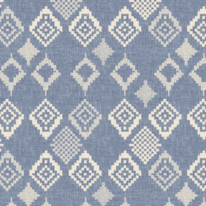 boho fair isle indigo winter holiday