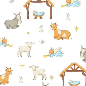 Seamless Nativity Paper