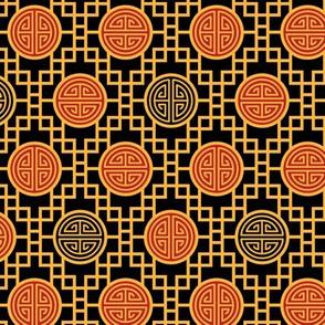 Chinese geometrics Black Small