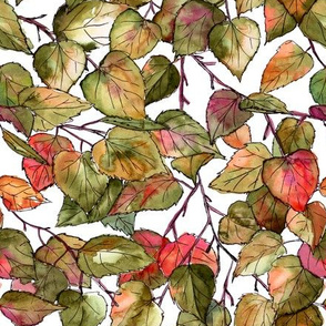 Birch leaves pattern - fall touch