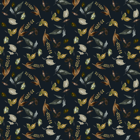 """4"""" Cambridge Branches Winter Royal Blue fabric by shopcabin on Spoonflower - custom fabric"""