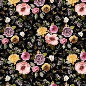 "4"" Cambridge Florals Black"