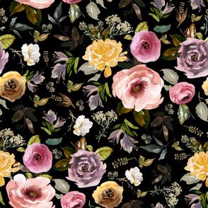 "36"" Cambridge Florals Black"