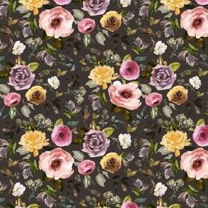 "4"" Cambridge Florals Brown"