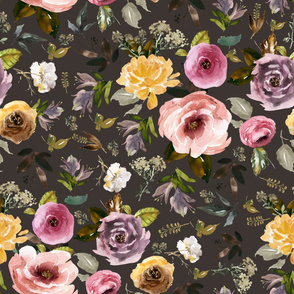 "36"" Cambridge Florals Brown"